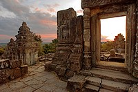 Phnom Bakheng Temple. Sunrise. The construction of this temple mountain on Phnom Bakheng (Bakheng Hill), the first major temple to be constructed in t...