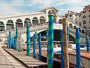 Venice (Italy). Rialto Bridge over the Grand Canal of Venice.