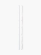 A single white ruler