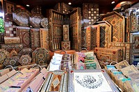 United Arab Emirates, Dubai, Souq Madinat Jumeirah, handicraft shop,.