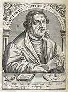 Martin Luther. (1483-1546). German religious reformer, and founder of the Reformation. Portrait,