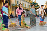 Myanmar, Yangon, Shwedagon Paya.