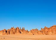 Madain Saleh in Saudi Arabia, a sister city to Jordan's Petra.