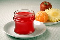 Mix Fruit Jam in bottle with fruit India PR#743AH