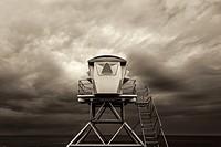 Lifeguard Tower at Ellen Browning Scripps Park. La Jolla, California, United States.