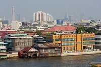 View over the River Chao Phraya in Bangkok, Thailand.