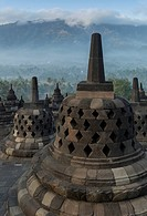 Borobudur Buddhist Temple, UNESCO World Heritage Site, Java, Indonesia, Southeast Asia, Asia