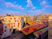 Mercat de Santa Caterina - Fresh Food Market in Barcelona, Catalonia, Spain.