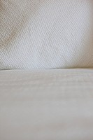 Detail shot of a bed at home; Azusa; California; USA
