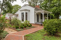 Cottage next to main house served as living quarters for Helen Keller and her teacher at her birthplace in Tuscumbia, Alabama.