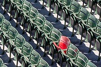 The lone red seat in the right field bleachers (Section 42, Row 37, Seat 21) signifies the longest home run ever hit at Fenway. The home run, hit by T...