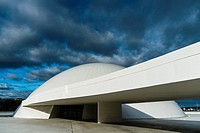 Niemeyer Center building, in Aviles, Spain, The cultural center was designed by Brazilian architect Oscar Niemeyer, was his only work in Spain. Aviles...