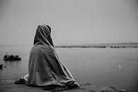 Meditating in Varanasi. India.