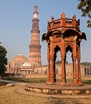 New Delhi, India. Smith's Folly in foreground (19th. century); Qutb Minar, a Victory Tower and minaret, 13th. Century, in background.