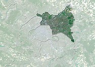 Departement of Seine-Saint-Denis, France, True Colour Satellite Image