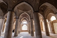 Interior passage of the Jameh Mosque of Isfahan, Iran