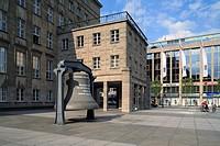 D-Bochum, Ruhrgebiet, Nordrhein-Westfalen, NRW, Willy-Brandt-Platz, Rathaus, Spanische Renaissance, Architekt Professor Karl Roth, City Point, Einkauf...