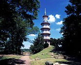 D-Oranienbaum, Biosphaerenreservat Mittlere Elbe, Sachsen-Anhalt, Englisch-Chinesischer Garten, Backsteinpagode D-Oranienbaum, Biosphaerenreservat Mit...