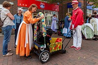 May Day Street Entertainer, Lewes, Sussex, England.