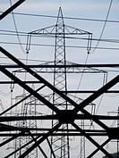 electricity, power pole, high-voltage line, Austria, Lower Austria, Mostviertel