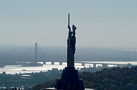 Kiev, Statue Mother, river Dnepr, Ukraine, Kiev, Kiev - Mother Statue