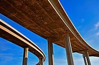 abstract LA freeway.