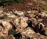 Old hand digging mining site, South Africa.