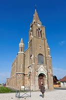 Eglise Notre Dame de Bon Secours church, Côte d'Albatre, Haute-Normandie, France.