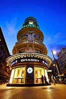 Edificio Grassy, located in Gran Via avenue. Madrid. Spain.