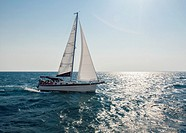 Belize, sailboat at sea.