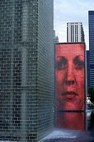 The Millennium Park, Crown Fountain by Jaume Plensa, Chicago, USA