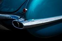Beautiful design of rear bumper, Auto Show: Corvette, Philadelphia, PA, USA, North America.