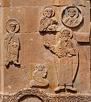 Turkey, Akdamar Island, reliefs with Elijah at Armenian Church of the Holy Cross