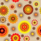 art vintage floral seamless pattern background