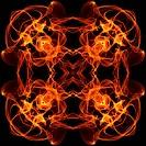 art vintage fiery geometric ornamental pattern