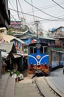 The Darjeeling Toy Train approaching.
