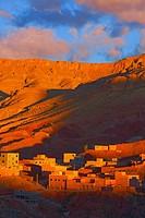 Dades Gorges at Dawn, Dades Valley, Dades Gorges, High Atlas, Morocco.