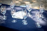 wine tasting table, vineyard in Mallorca