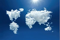 image of world map with cloud
