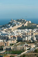 View Dalt Vila, Ibiza, Balearic Islands, Spain, Mediterranean, Europe.