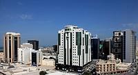 Qatar, Doha, Central Doha, skyline,