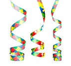 streamers as decoration for parties, sylvester isolated, hanging with white background