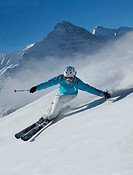 Ski, skiing, Grindelwald, ridge, Eiger, Jungfrau, mountain, mountains, ski, skiing, Carving, winter, winter sports, canton Bern, Bernese Alps, Bernese...