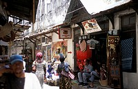 Die Altstadt von Stone Town oder Zanzibar Town der Hauptstadt der Insel Sansibar im Indischen Ozean in Tansania in Ostafrika.