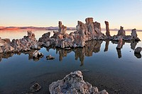 Mono Lake stalagmites of the Tufa