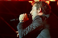 Spanish singer David Bisbal during his first concert of the tour ´You and I´, Spain, Balearic Islands, Mallorca, Felanitx, 2014