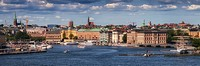 View of the Stockholm harbour - Sweden.