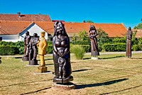 Village of Hlebine wooden statues