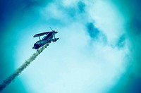 action in the sky during an airshow