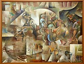 La Forge, 1911-1913. Wladimir Baranoff Rossiné. Centre George Pompidou. Musee National d´Art Moderne. Paris. France.